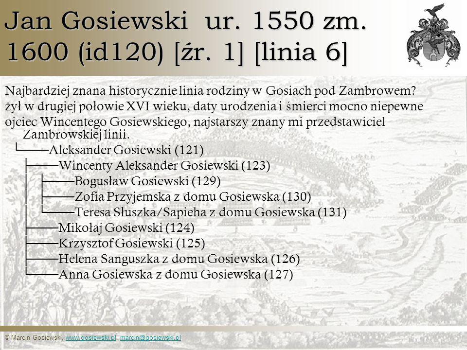Jan Gosiewski ur. 1550 zm. 1600 (id120) [źr. 1] [linia 6]